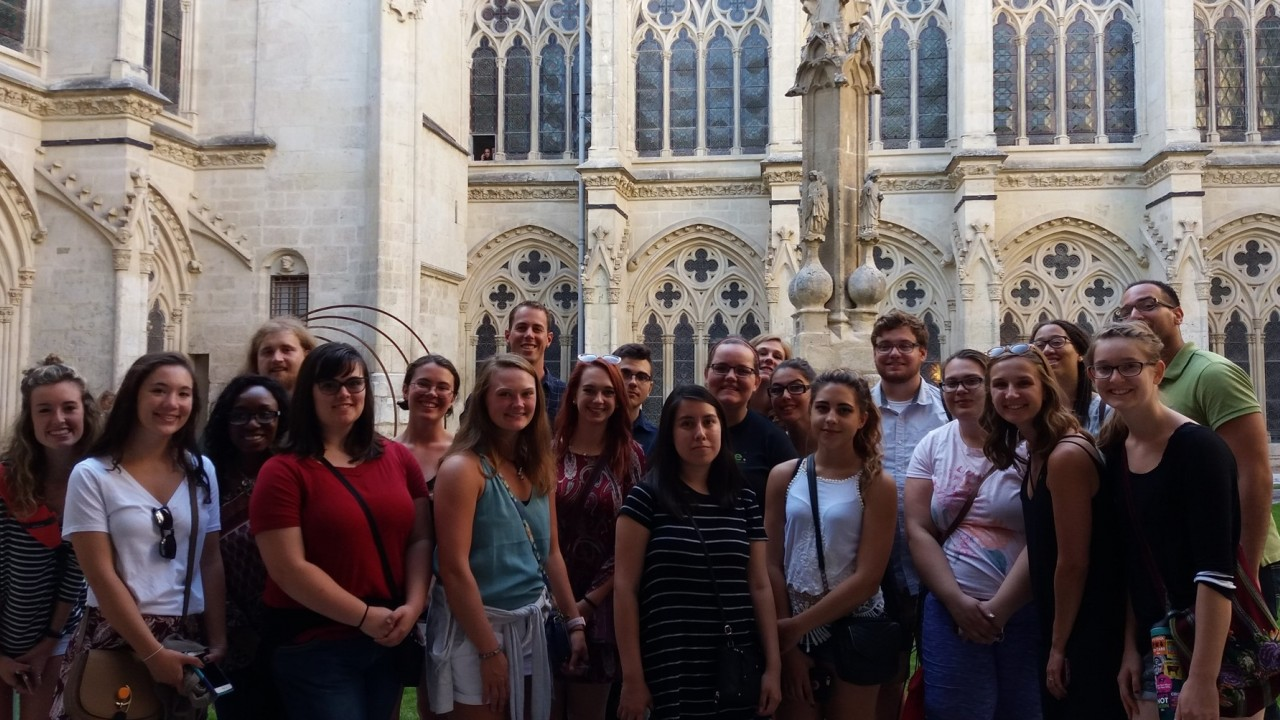 Group picture of the study abroad participants who went to Burgos, Spain during the fall semester of 2017