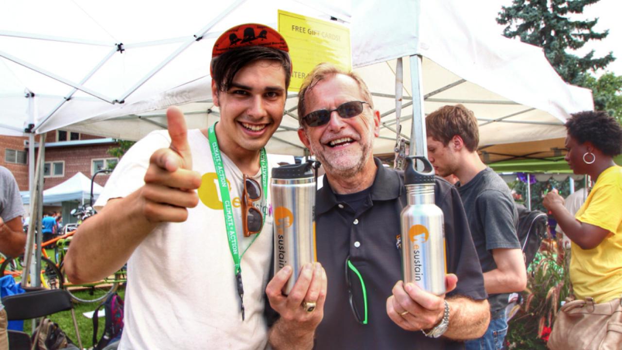 President Dunn and Eco Mugs