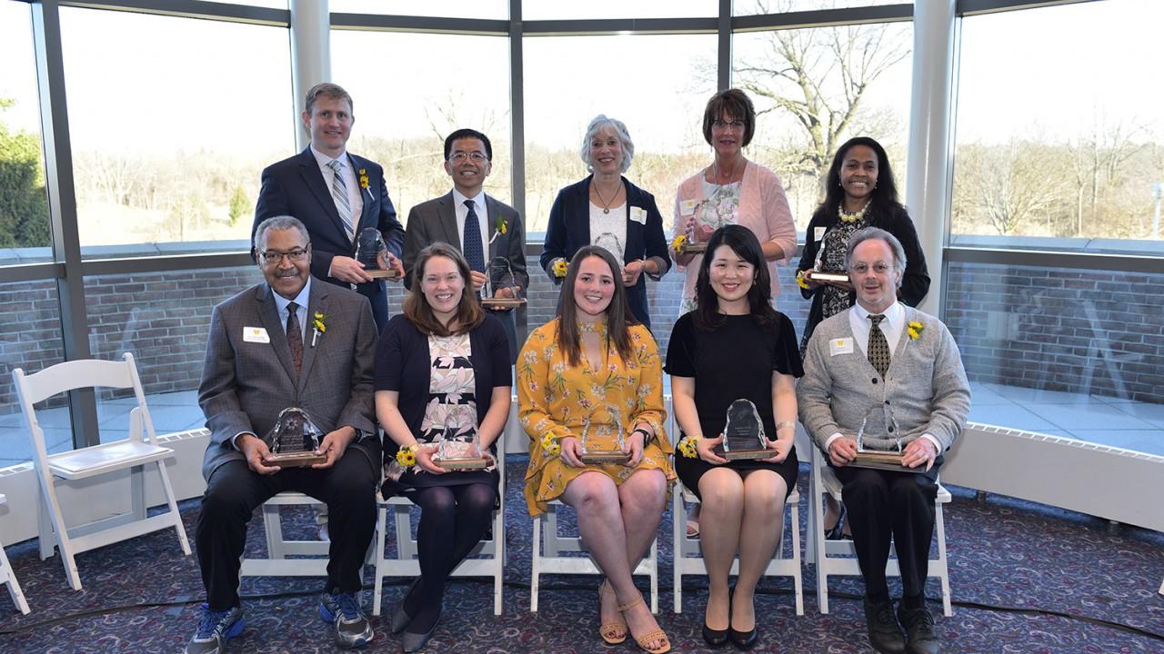 Group photo of 2018 award winners