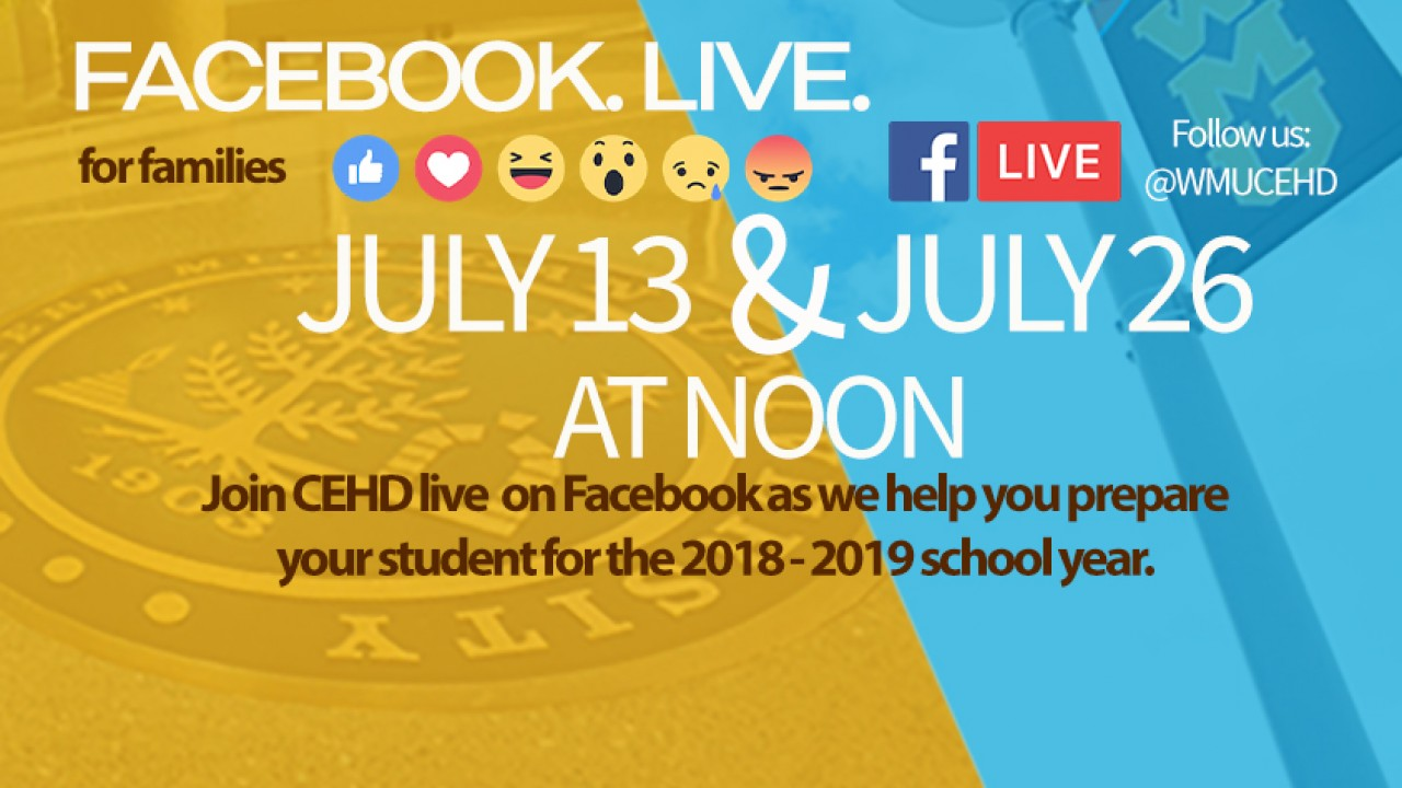 facebook live july 13 and july 26