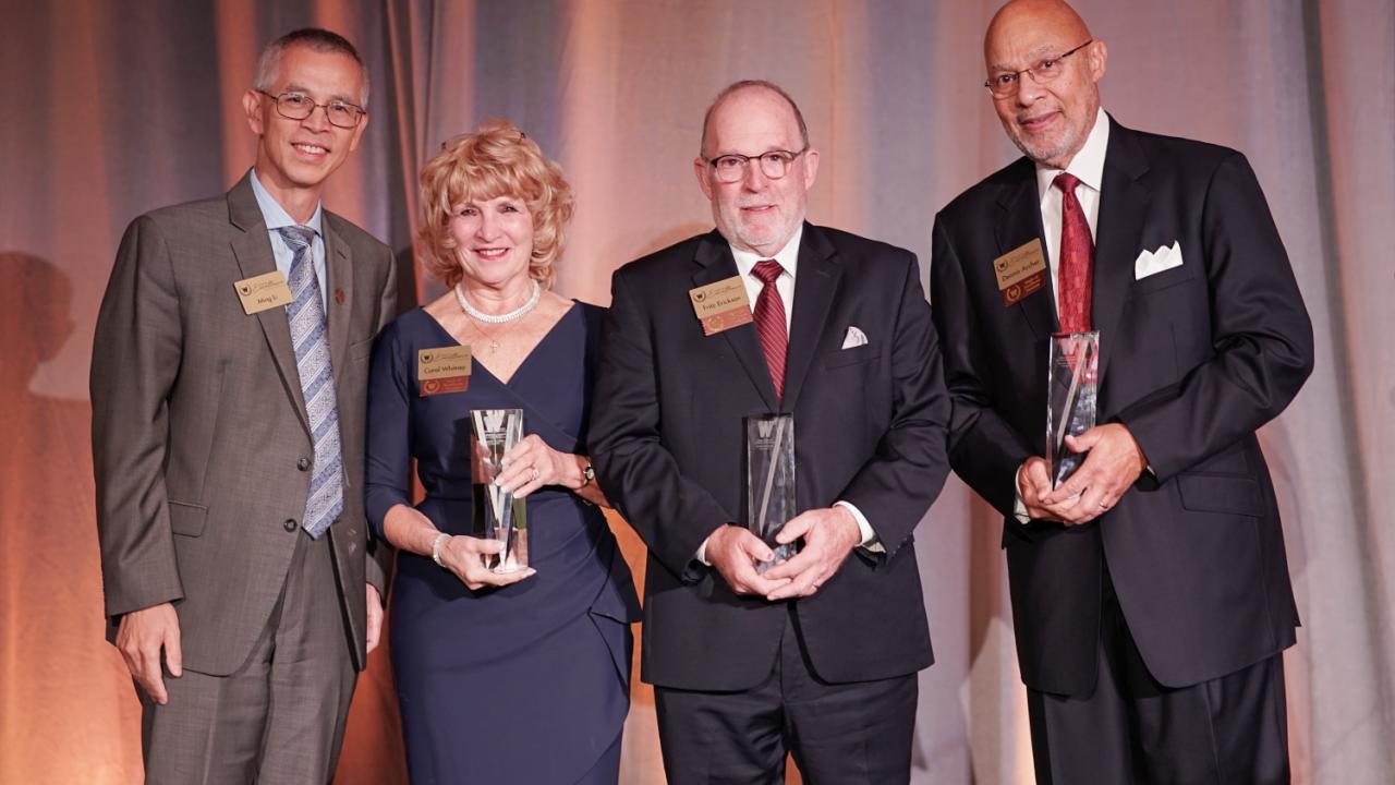 2 award winners with Dr. Li.