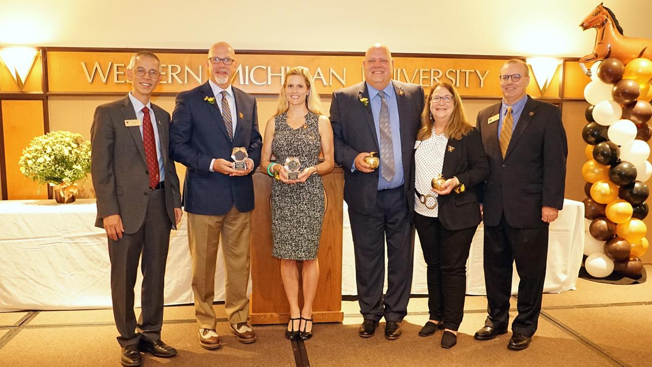 Award winners with Dr. Li and Dr. Geier