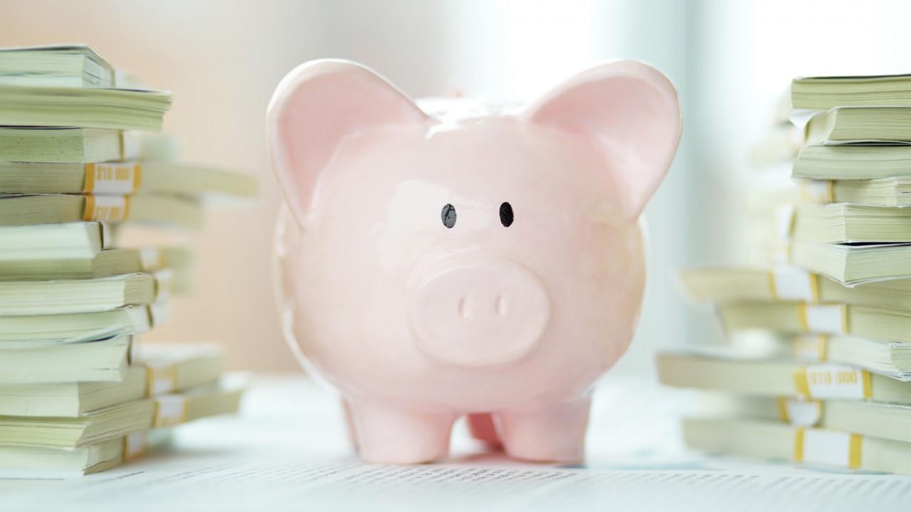pink piggie bank