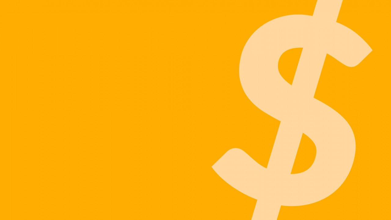 dollar sign with yellow background