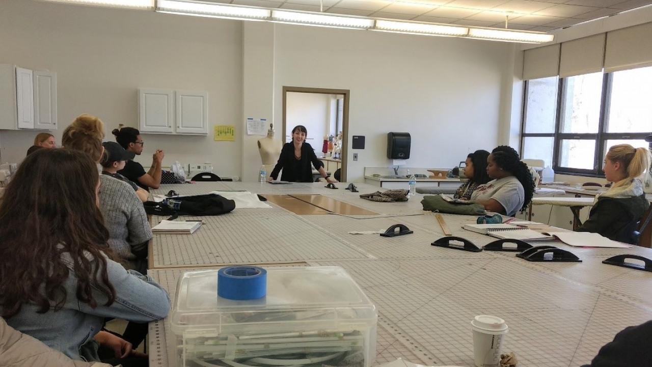 Guest speaker at Apparel Design lab