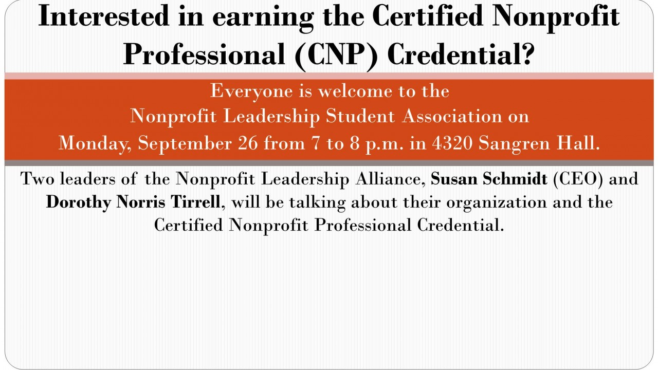 Certified Nonprofit Professional Credential