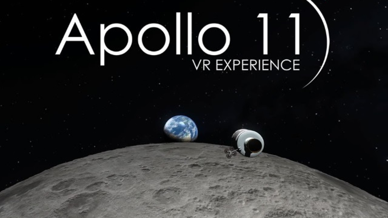 Screenshot from Apollo 11 VR experience.