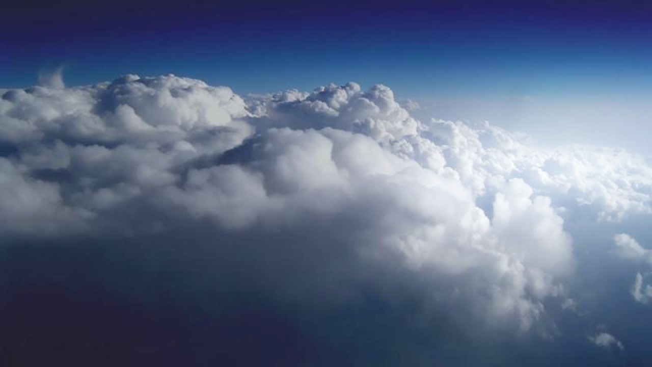 Picture above the clouds in the sky