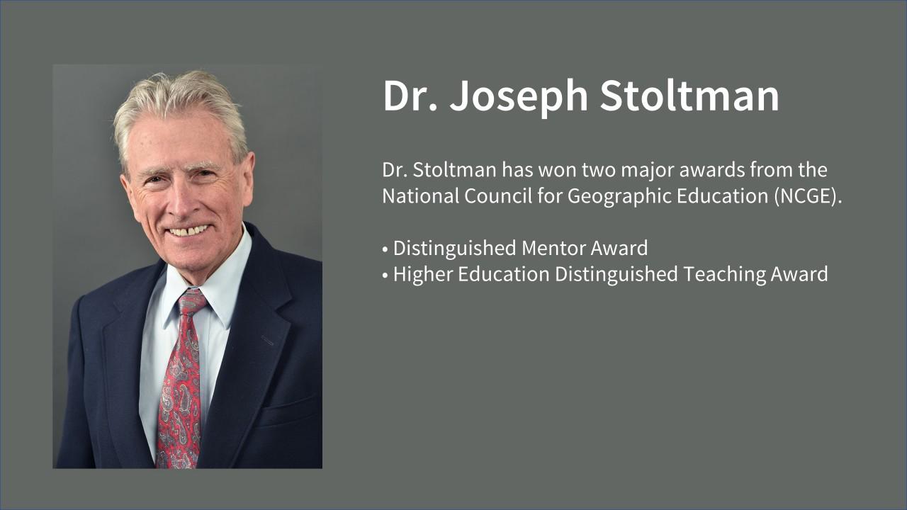Dr. Stoltman wins major geography awards