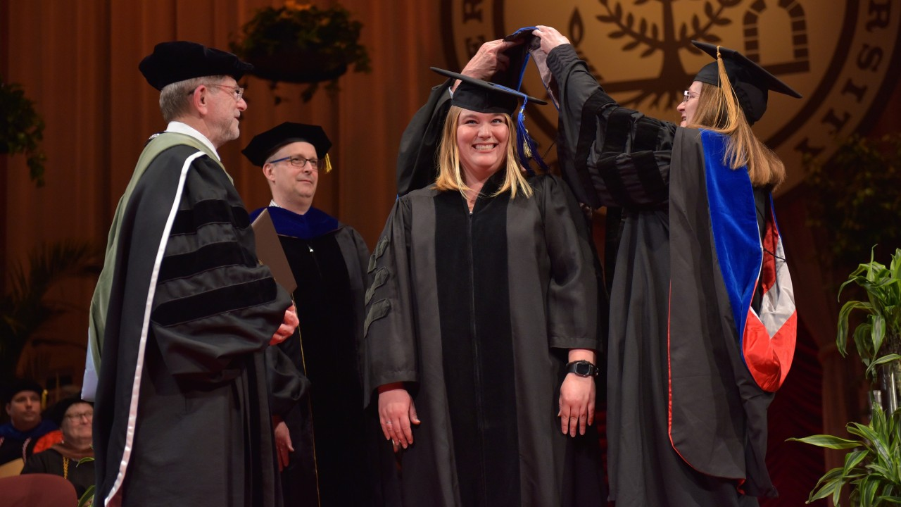 Joanna Pozzuto receives doctorate