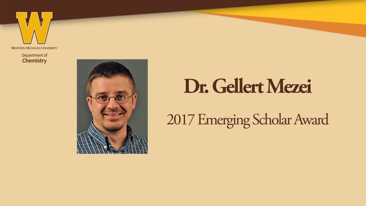 Dr. Gellert Mezei wins 2017 Emerging Scholar Award