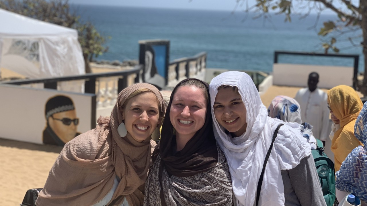 WMU students wear hijabs as they tour Dakar, Senegal