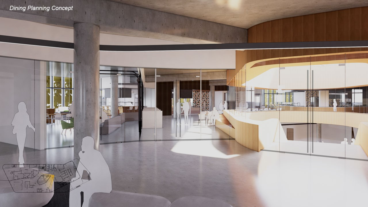 New Dining Center entryway concept