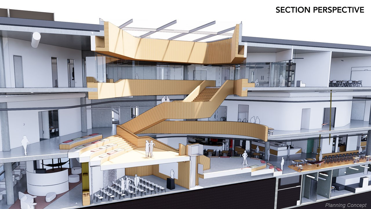 New Student Center section view
