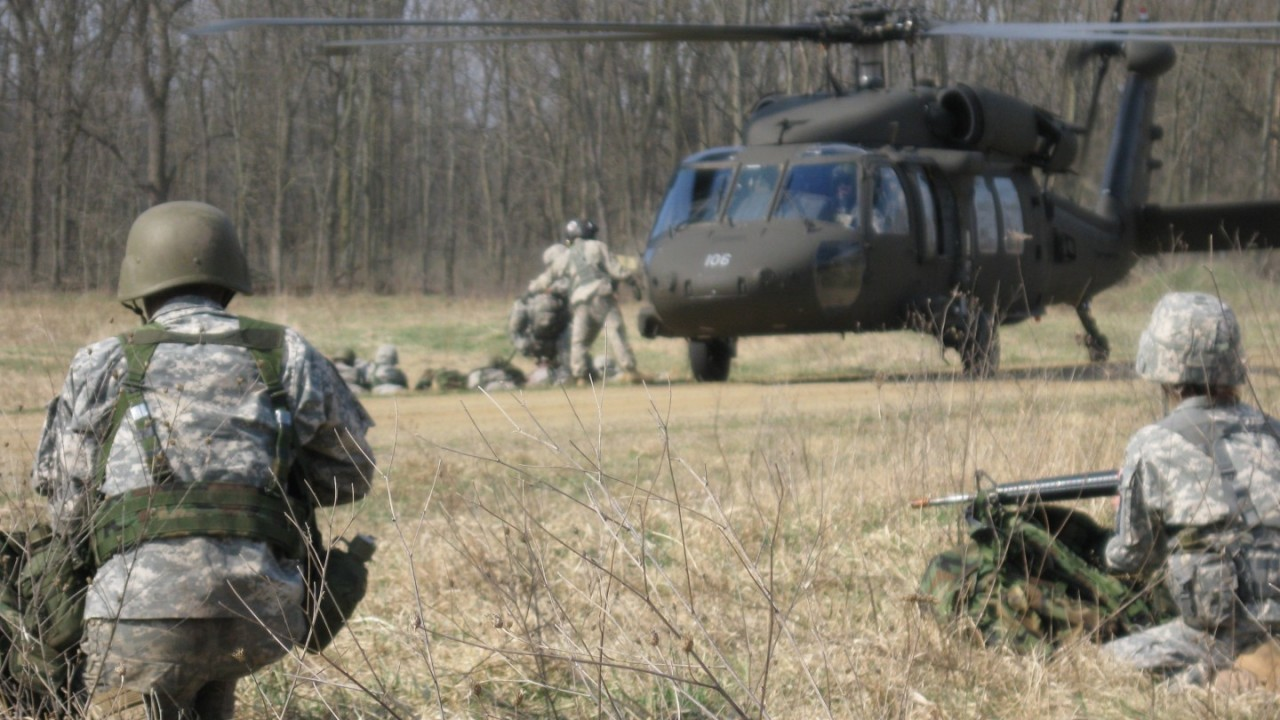Cadets participate in realistic field training