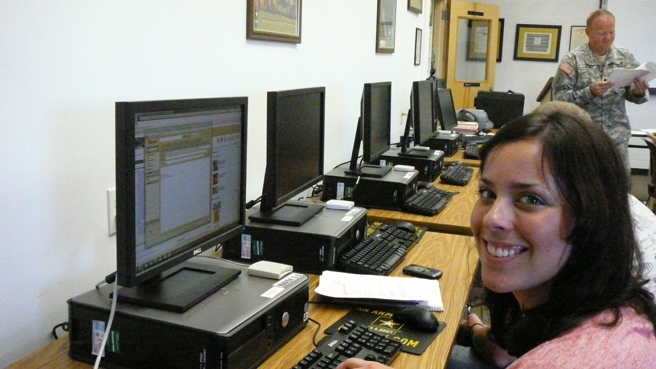 Cadets in the computer lab