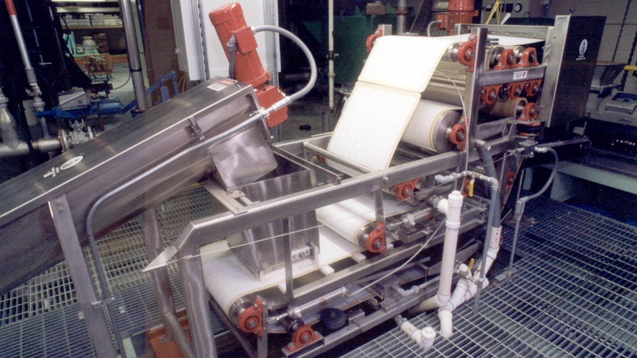 Paper press at the WMU Pilot Plants