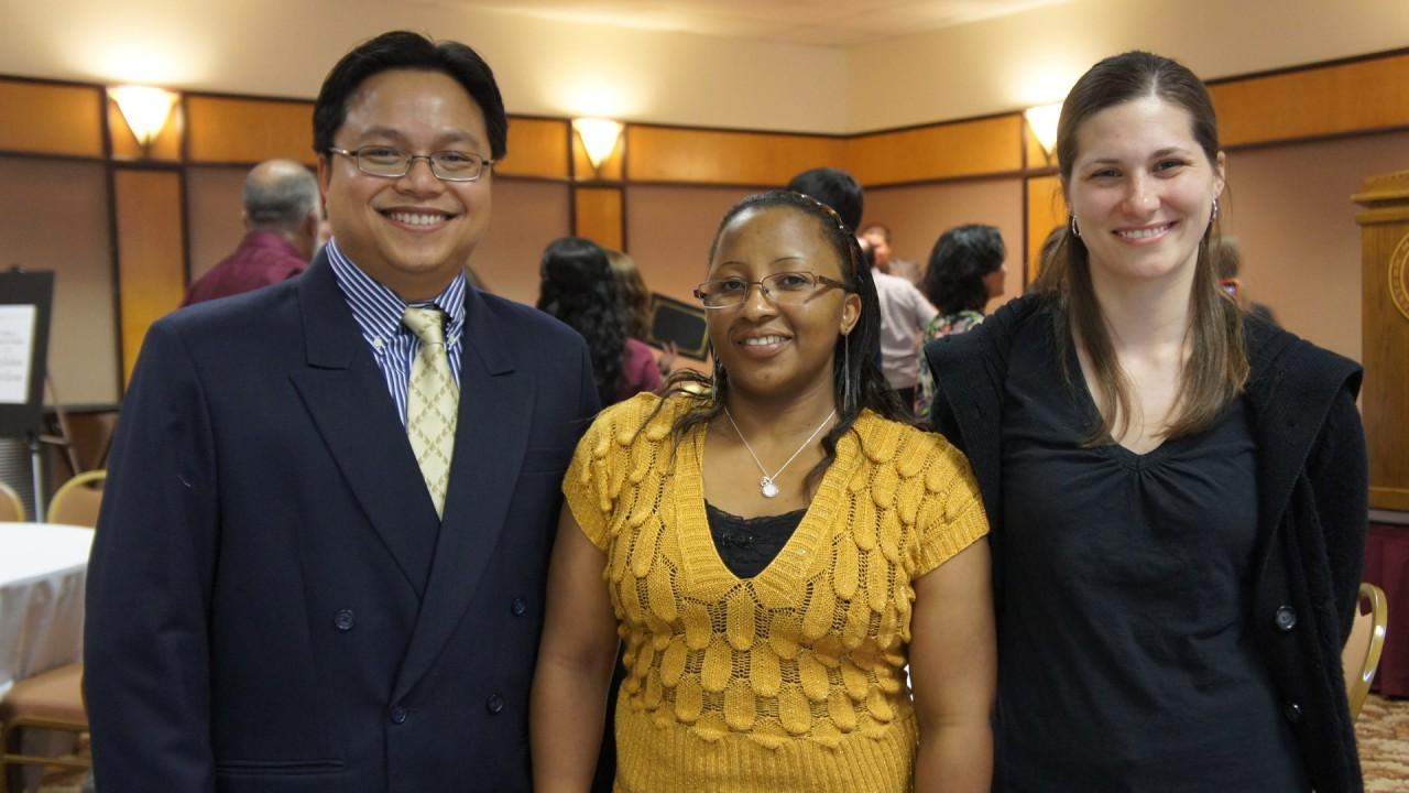 Plybour, Mutambuki, and Bierema, all of whom won student achievement awards