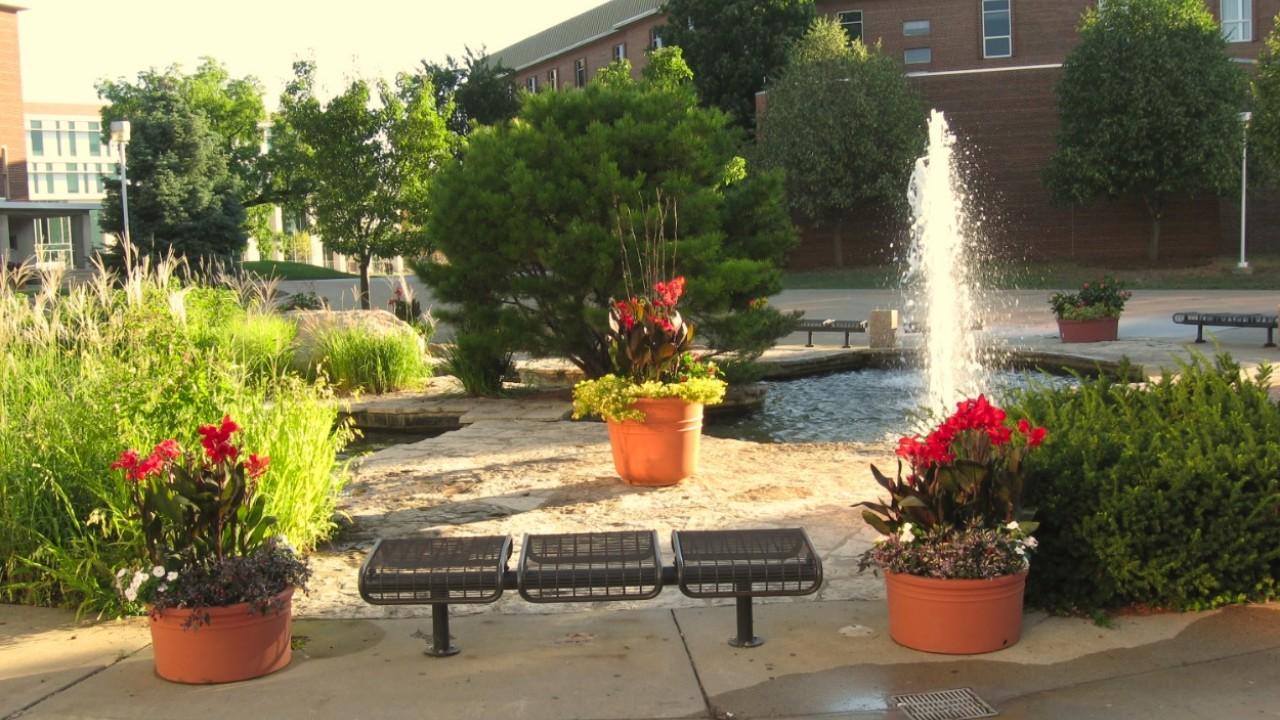 WMU Board of Trustees Fountain.