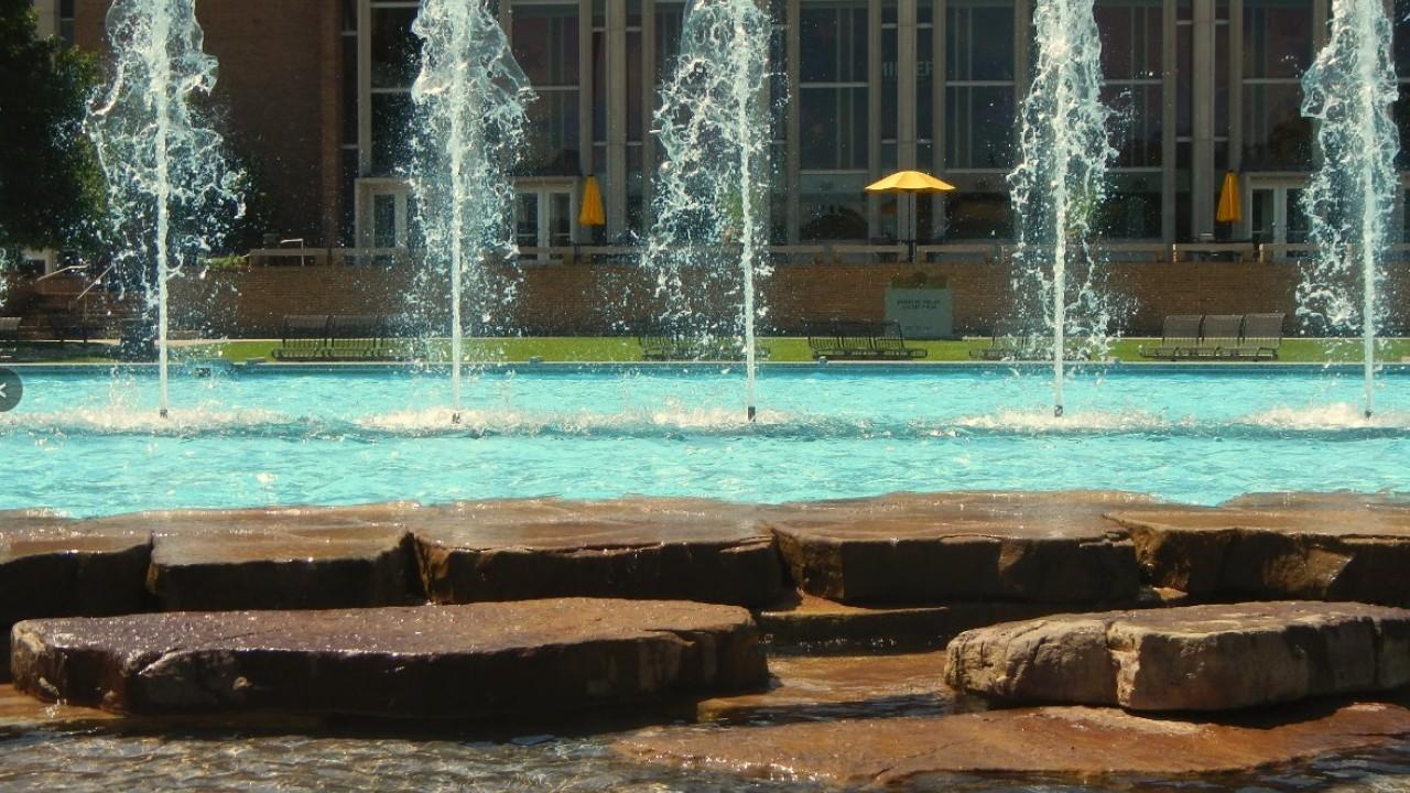 WMU Campus Fountain.
