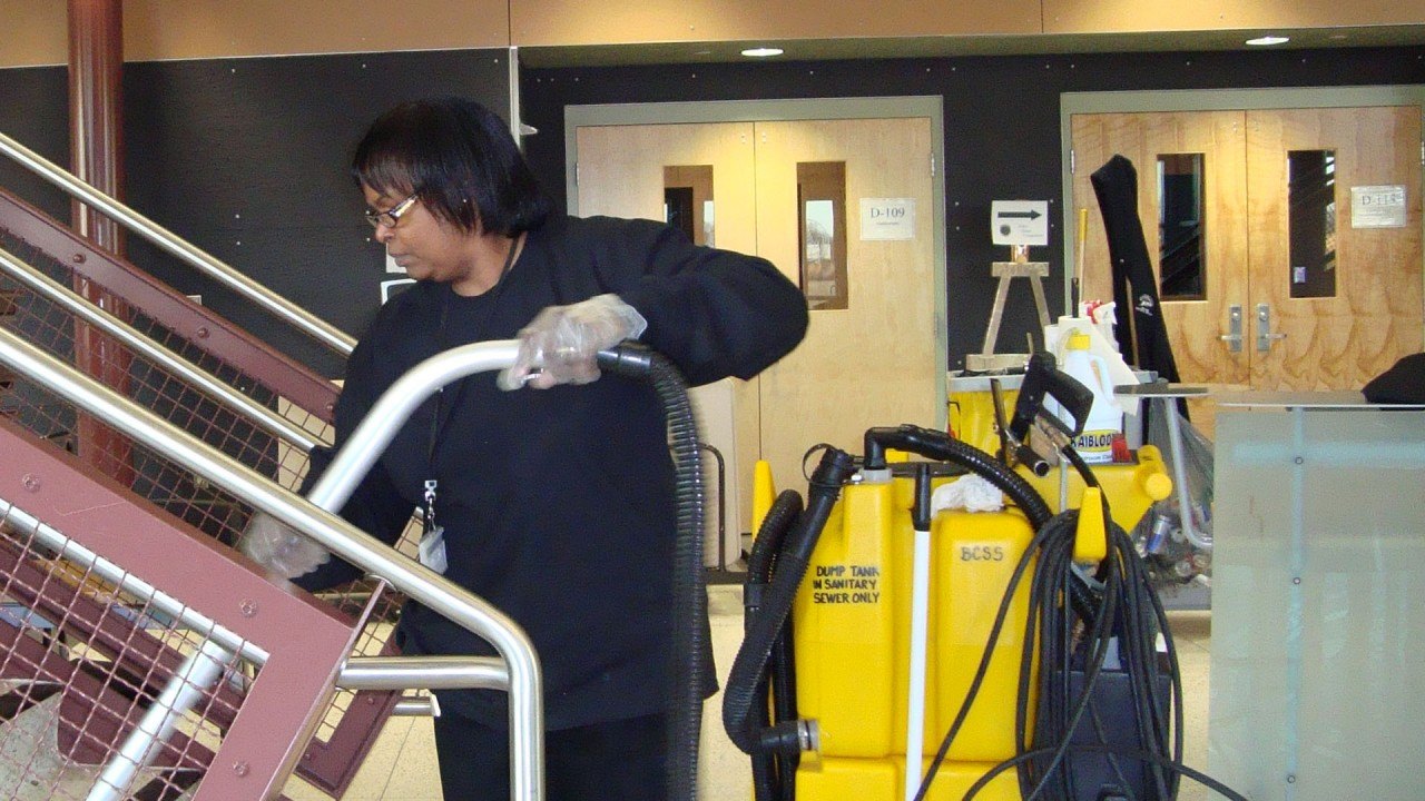 Cleaning at WMU's Parkview campus