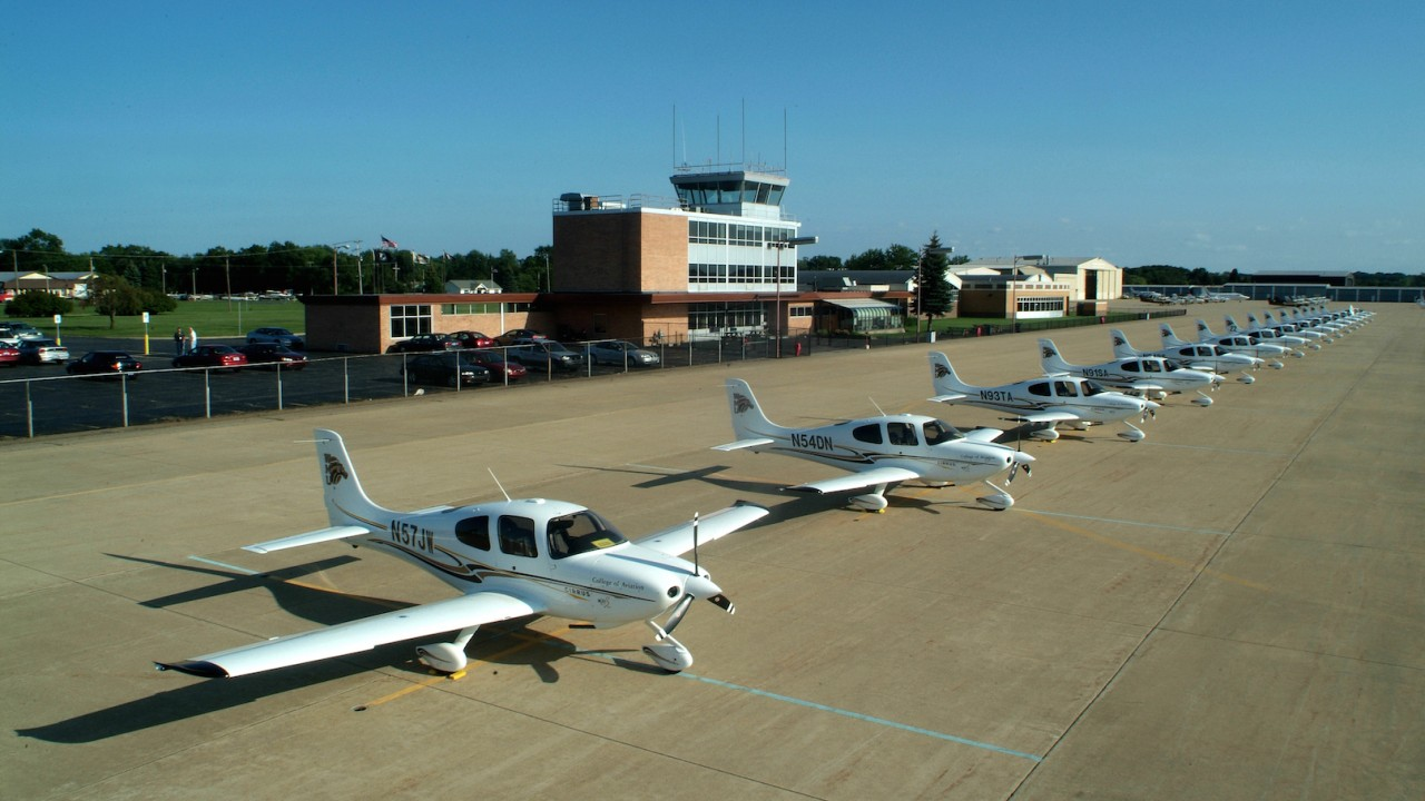 The Cirrus SR20 is the primary training aircraft at WMU to educate future pilots.