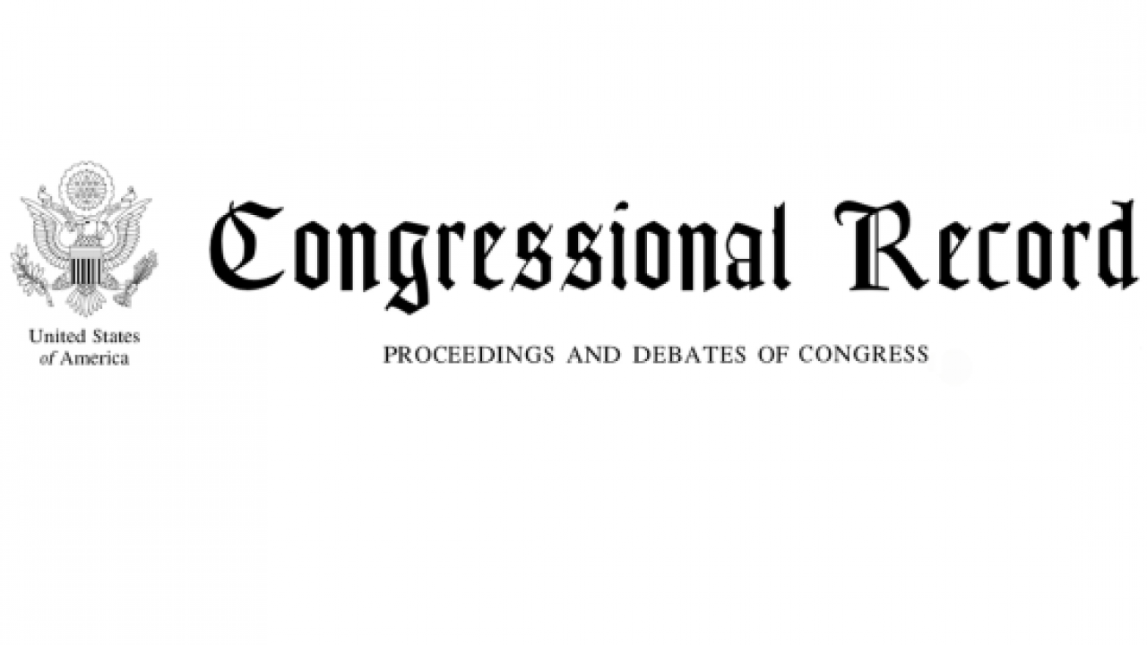 Congressional Record: Proceedings and Debates of Congress