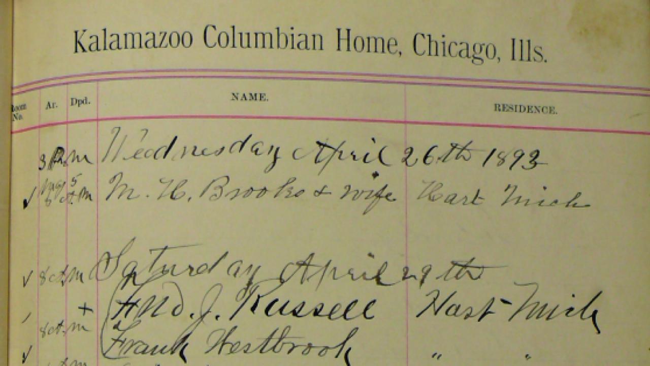 Kalamazoo Columbian Home Ledger