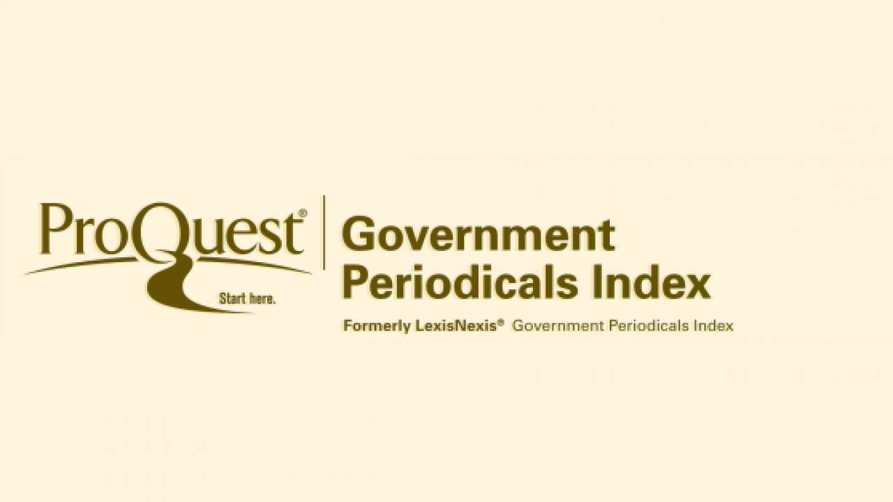 ProQuest Government Periodicals Index