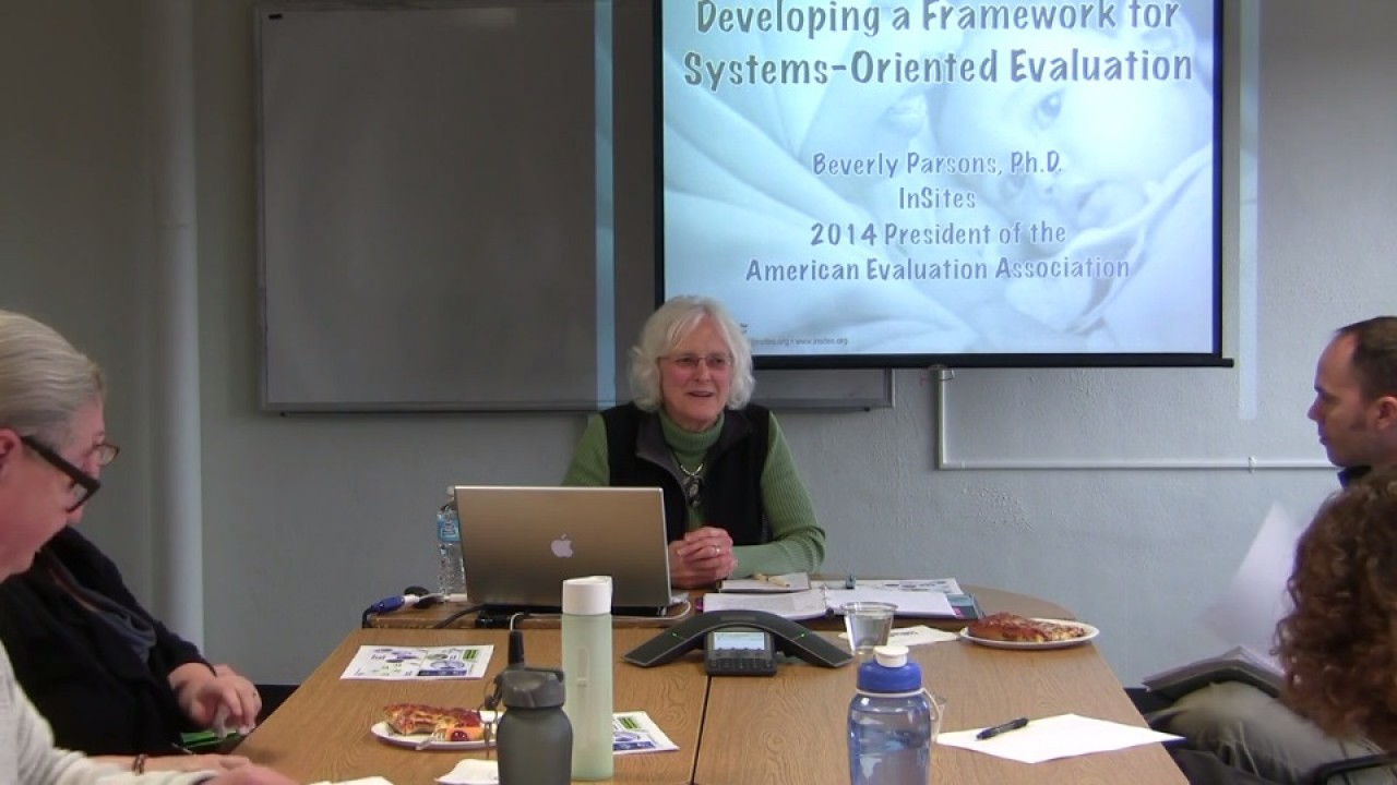 Dr. Beverly Parsons giving presentation.