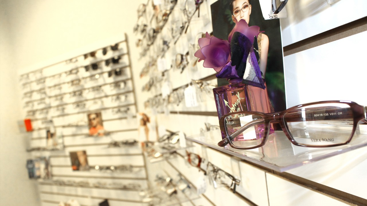 Vision Clinic eyeglass display