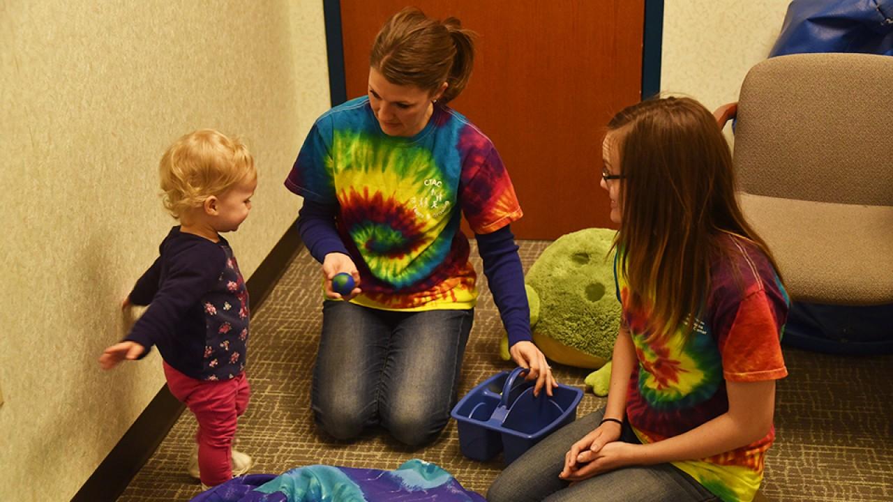 Staff assess a child
