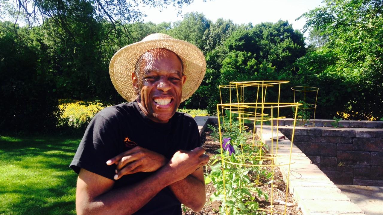 Consumer at the garden