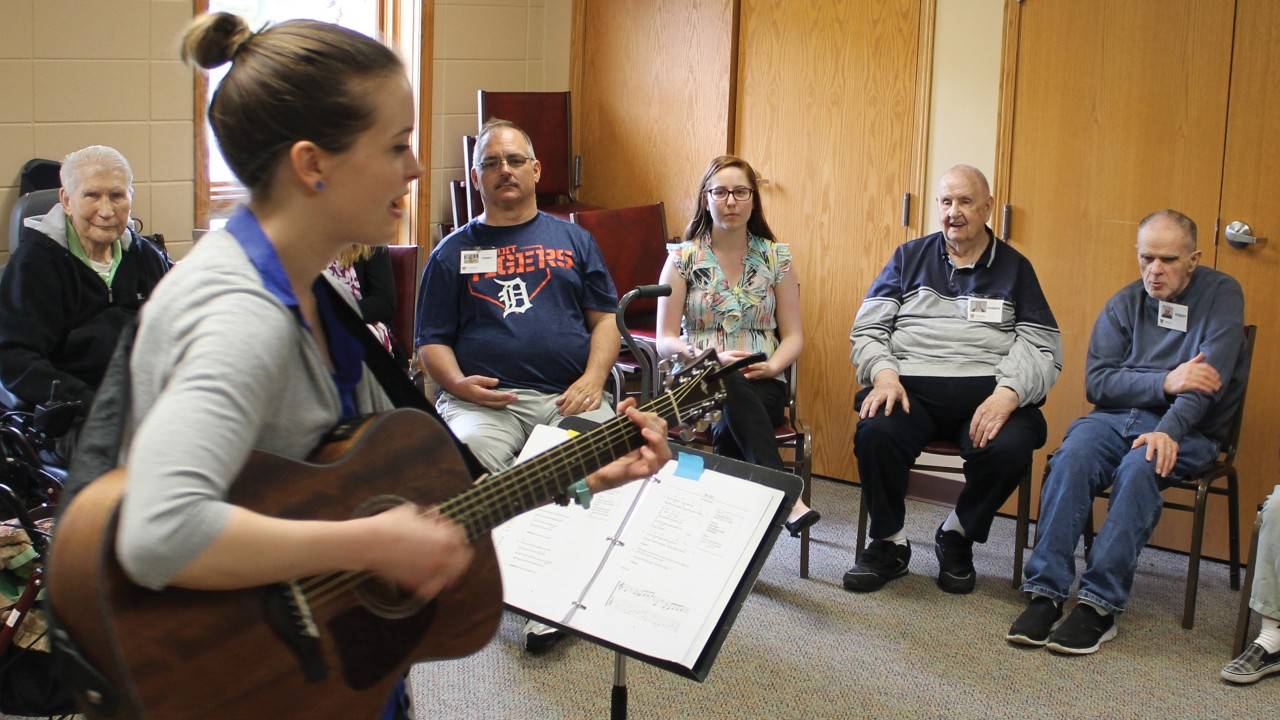 Music therapy class