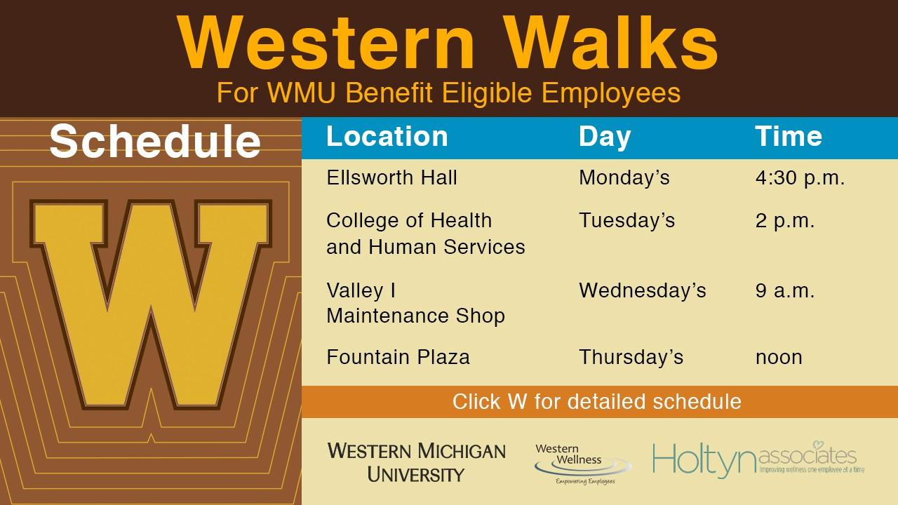 Western Walks schedule
