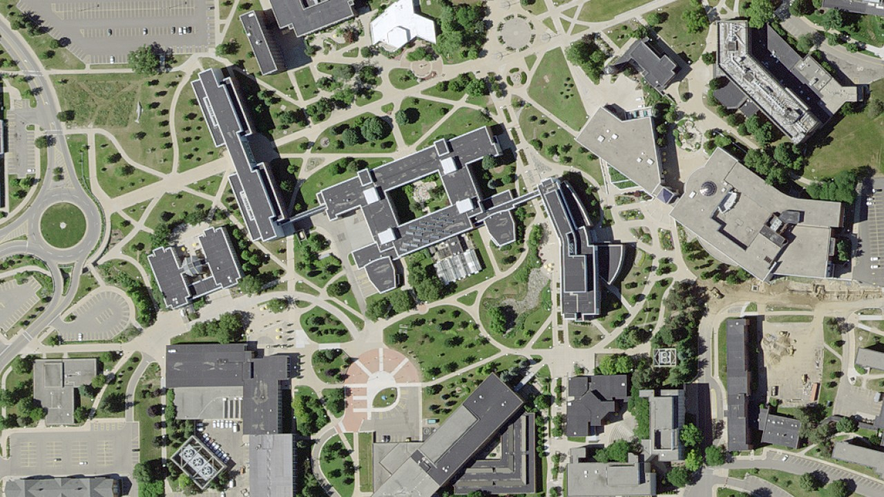 Aerial photo of WMU campus