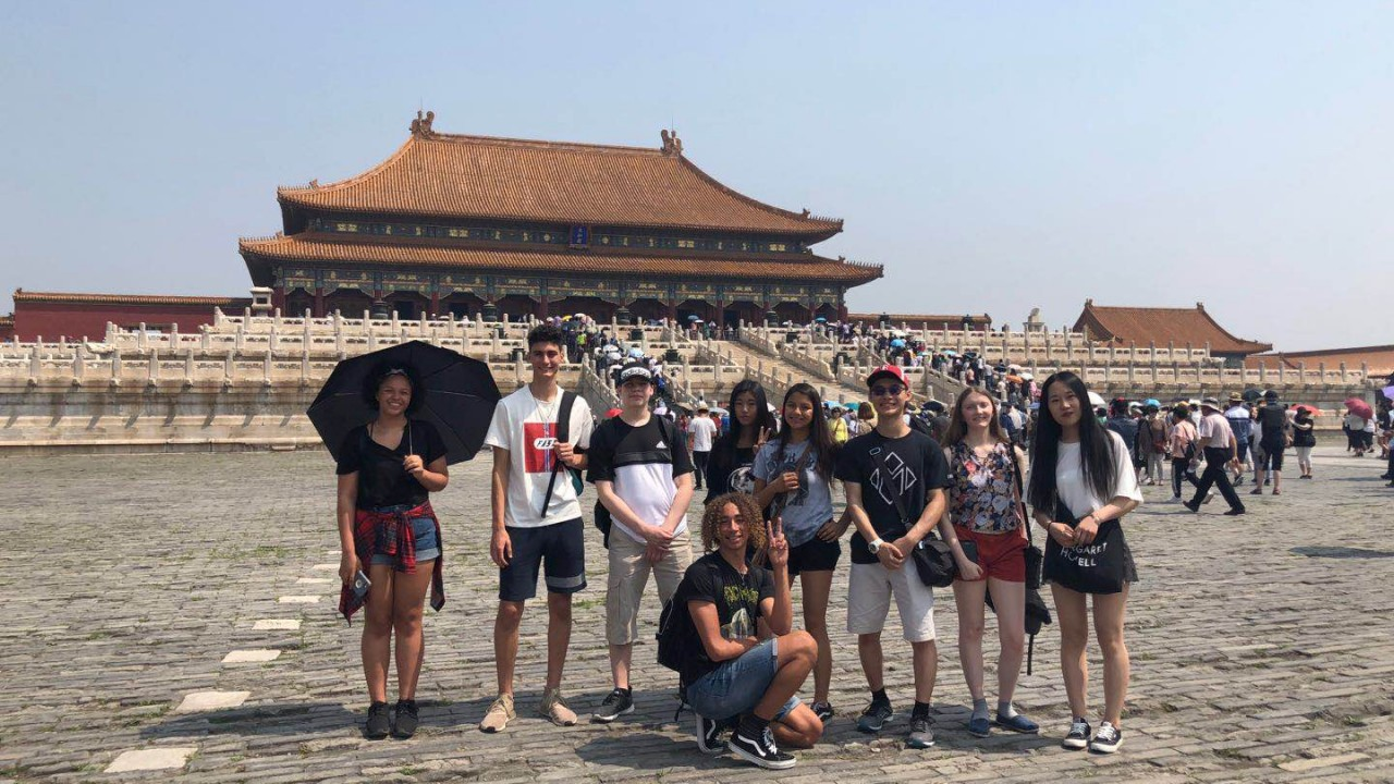 Students explore the sites during their Summer Camp trip to China.