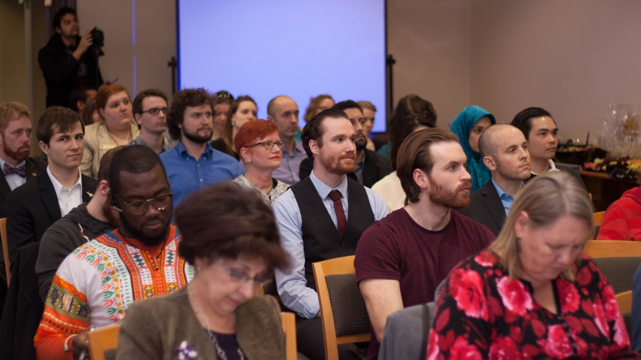 Audience at the Gradtalks three minute thesis competition