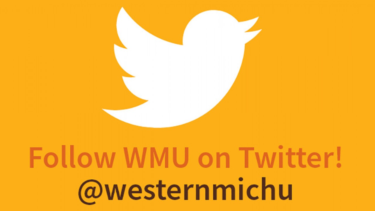 Graphic depicting WMU's Twitter handle, @westernmichu.