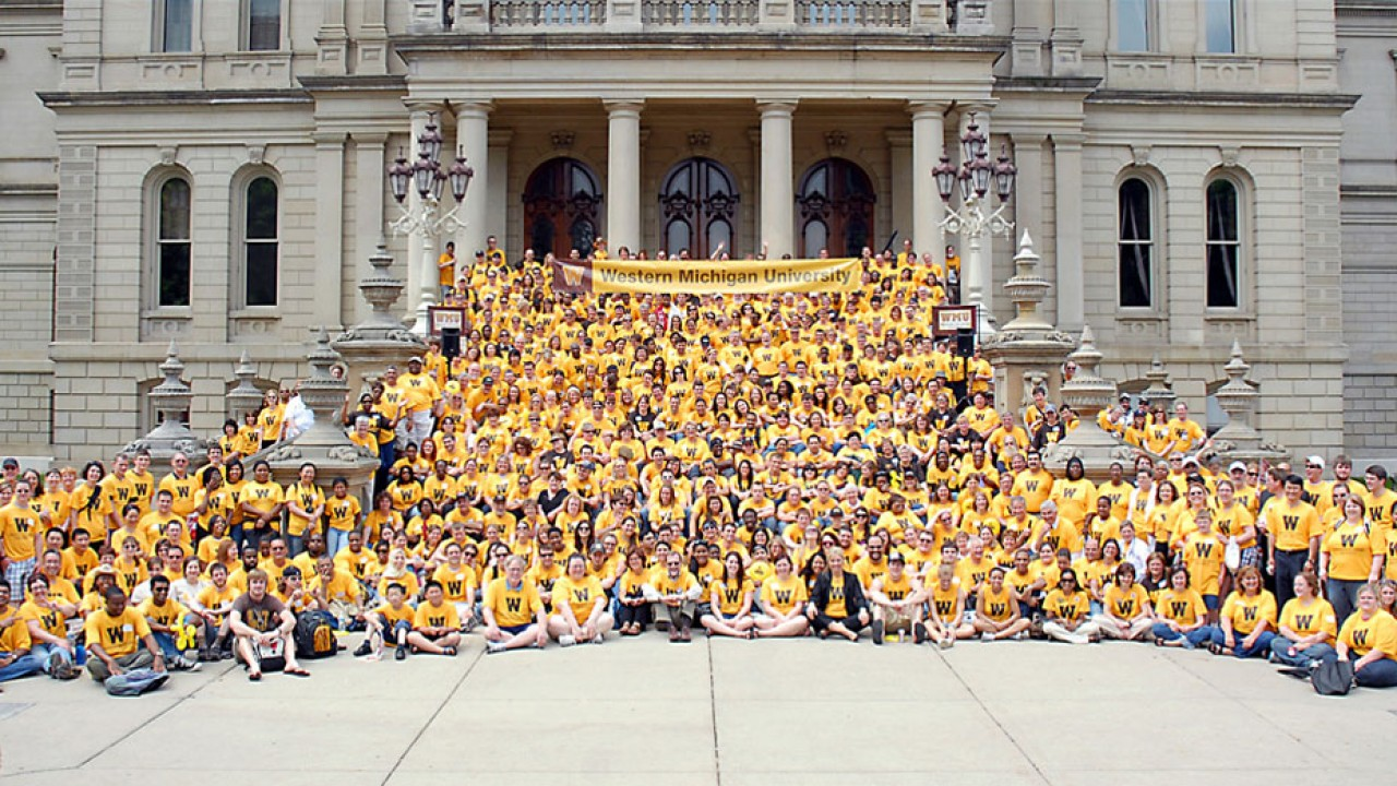 Photo of WMU Day at the Capitol in Lansing.
