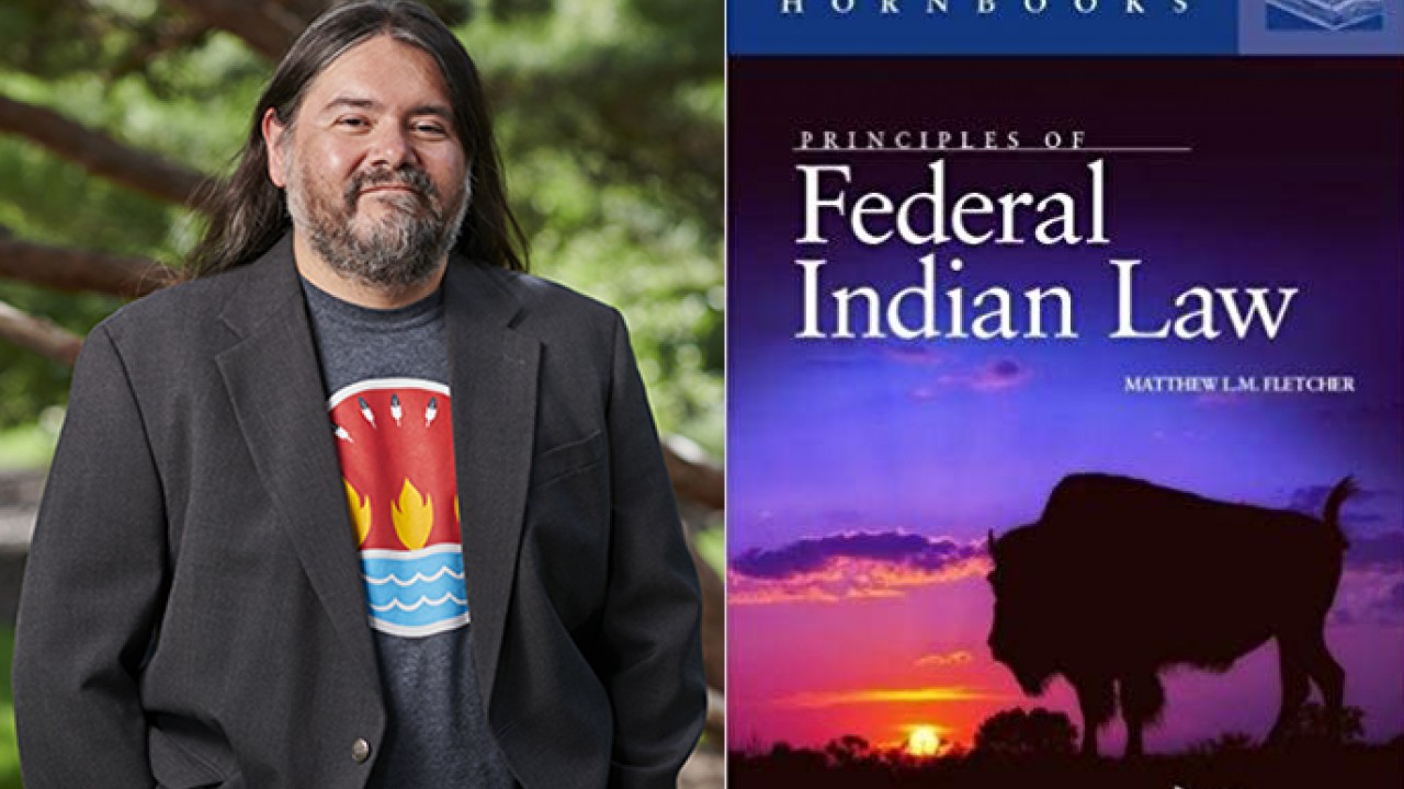 Matthew Fletcher. Book cover: Principles of Federal Indian Law; Concise Hornbooks