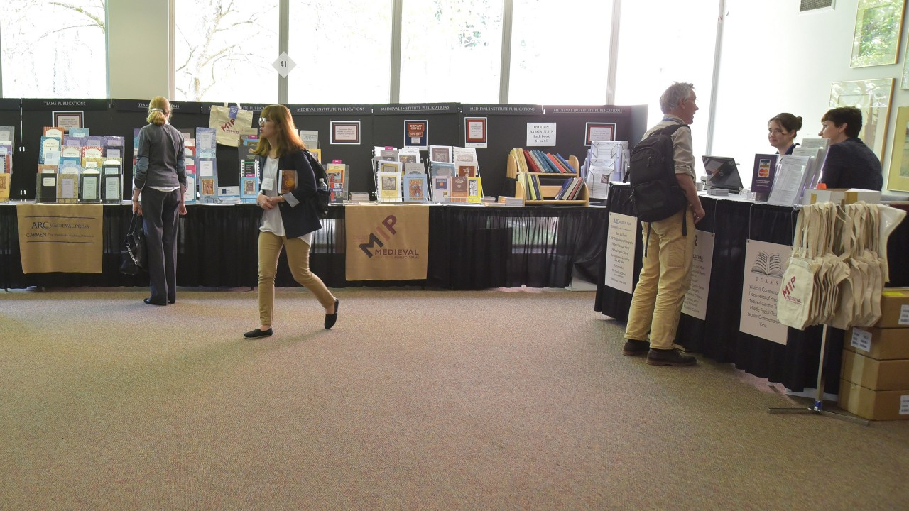 Image of the Medieval Institute Publications booth at the Congress.