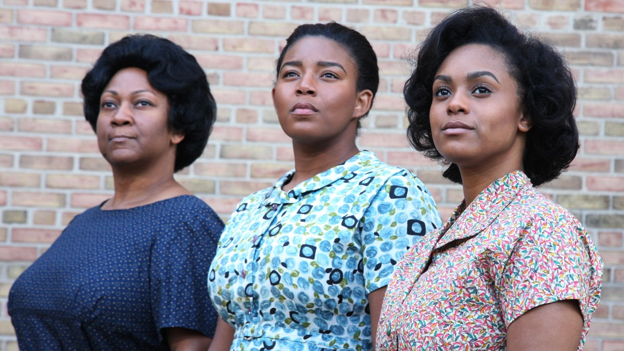 "From left to right: Dwandra Lampkin, Ariszia Staton, and Imari Brown in WMU's production of ""Waiting to be Invited"" (photo: John Lacko)."