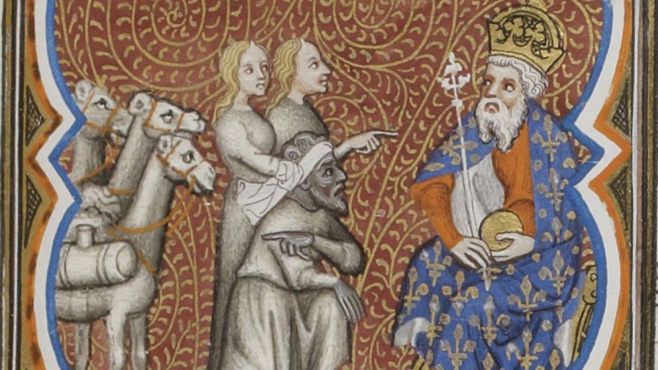 Image of a detail of a medieval manuscript.