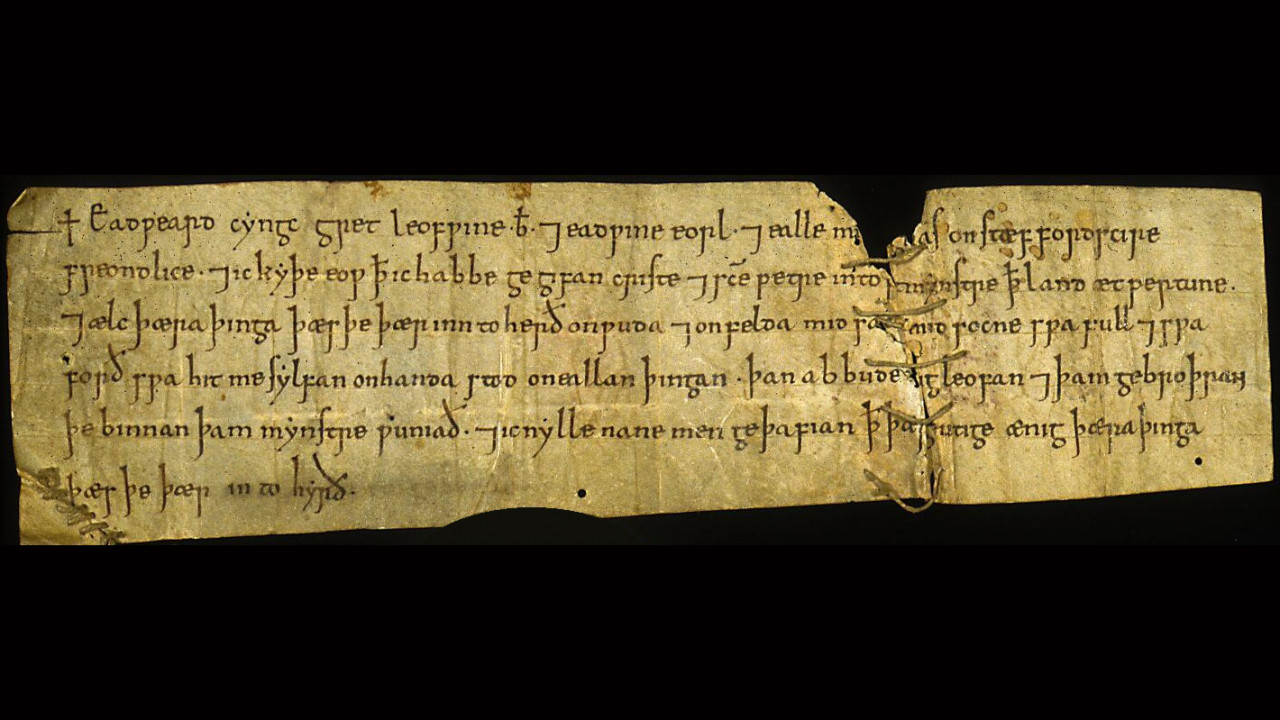 Image of a writ of Edward the Confessor (Westminster Abbey, W.A.M. XII).