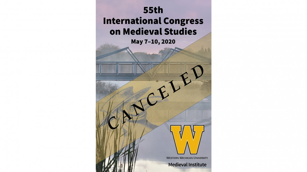 Image of the cover of the printed program for the 55th Congress indicating that the event is canceled.