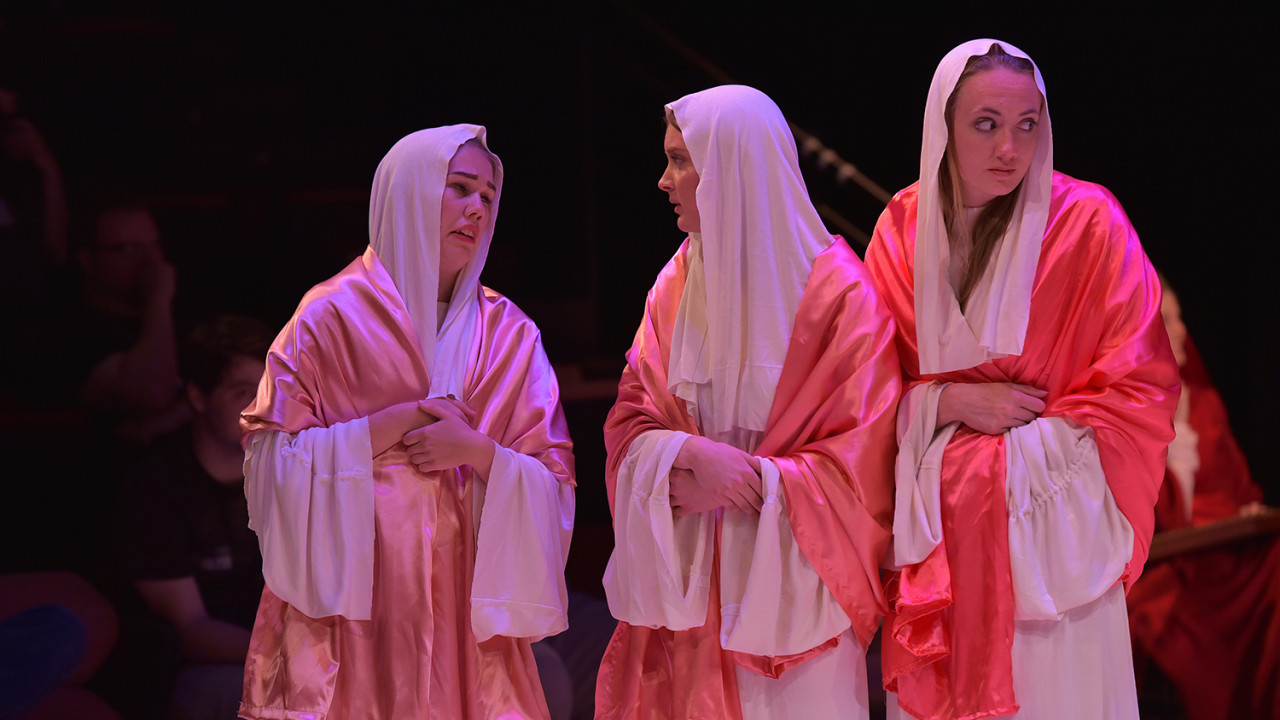 Performance in the Mostly Medieval Theatre Festival of Dulcitius.