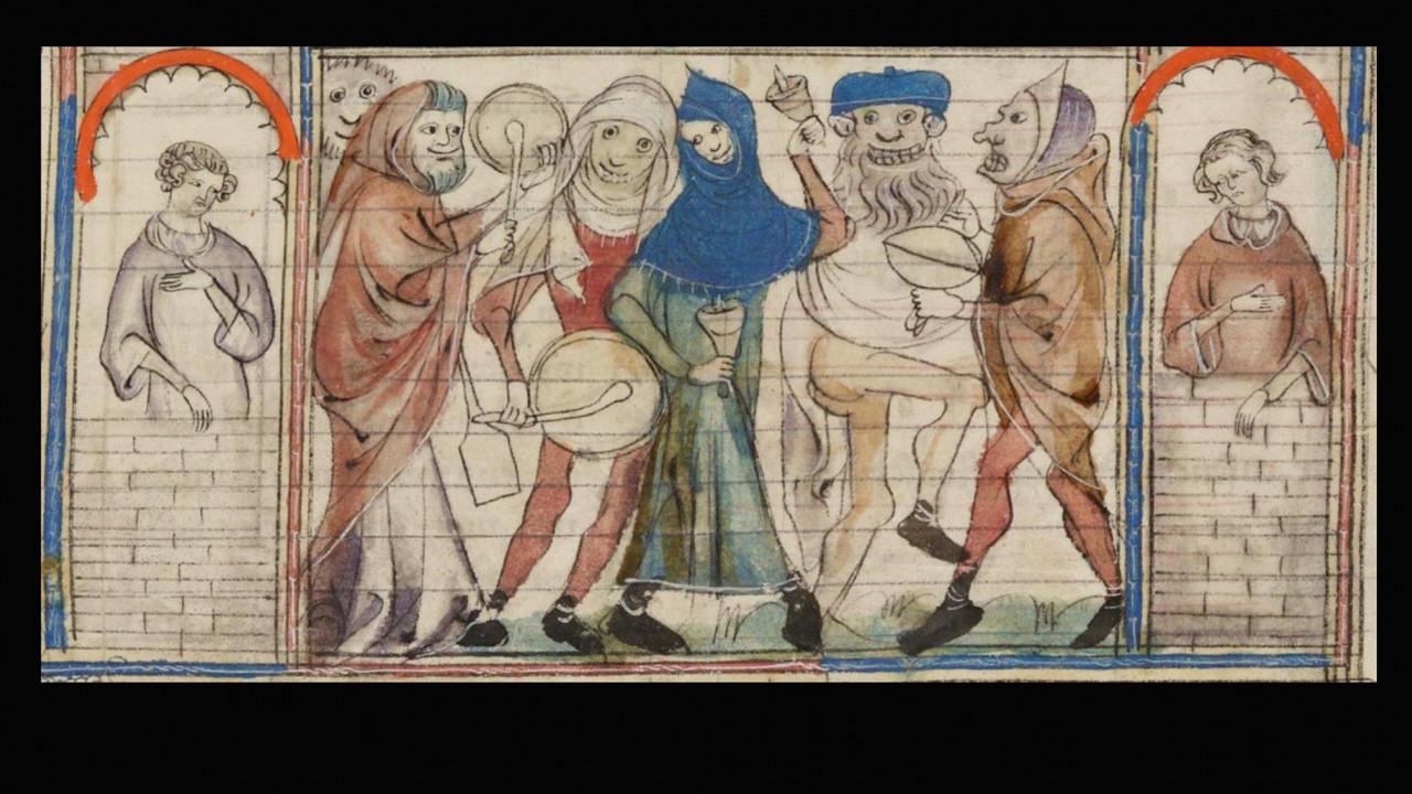 """Image from the manuscript of """"Le Roman de Fauvel."""""""