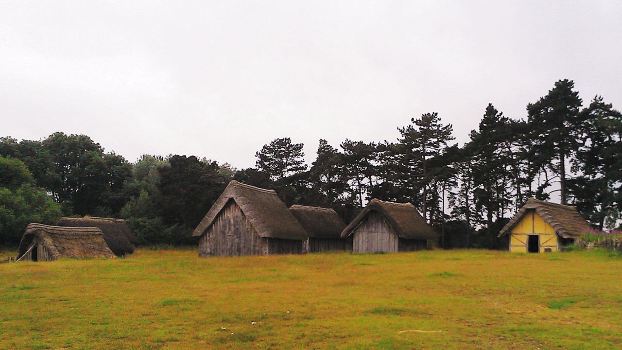 West Stow, a reconstructed early English village.