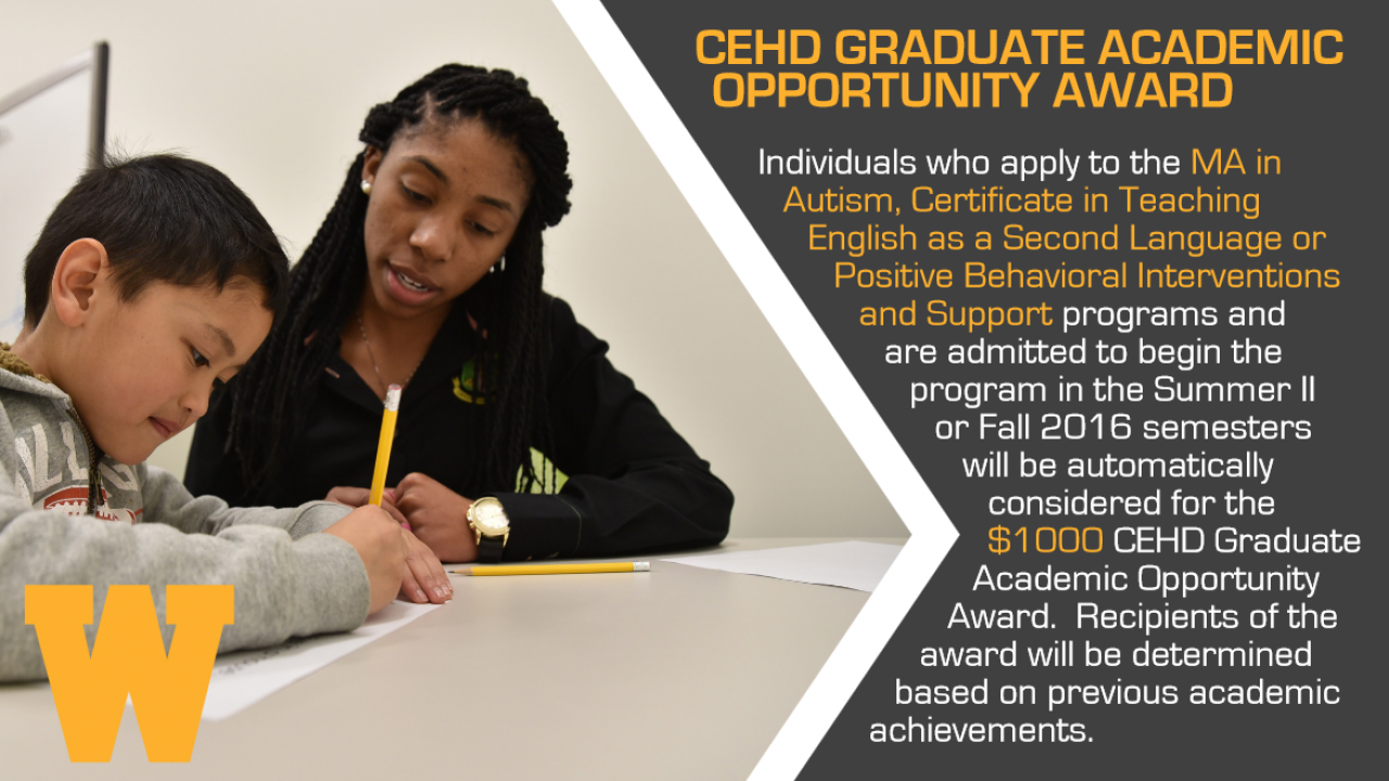 cehd grad academic opportunity award